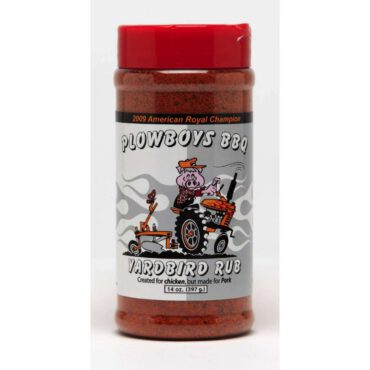 Add a little extra kick and a lot of flavor to your barbecue with the plowboys barbeque 14 Oz. size yard bird rub. This savory rub has a touch of sweetness followed by a little heat on the back of your tongue. Comes in a plastic jar. Adds a little extra kick and a lot of flavor to your barbecue Offers touch of sweetness followed by a little heat on the back of your tongue Comes in a plastic jar
