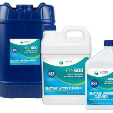 CV-600 Catalytic Enzyme Water Cleaner Concentrate is a unique, stabilized enzyme that effectively breaks down and digests non-living organic contaminants commonly found in pools, spas and other recreational water. Routine application of CV-600 will positively maintain water clarity, directly address carbon-based contamination, and boost chlorine efficiency.